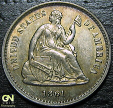 1861/60/1  Seated Half Dime BREEN 3102 --  MAKE US AN OFFER!  #G4378