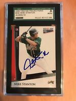 MIKE GIANCARLO STANTON 2009 TRISTAR PROJECTION SCG AUTHENTIC AUTO ROOKIE  **READ