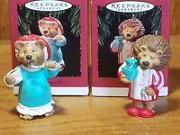 Vintage 1994 Mom to Be Dad To Be Hallmark Keepsake Ornaments