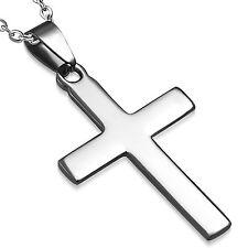 Kettenanhänger Kreuz schlicht Edelstahl Neu