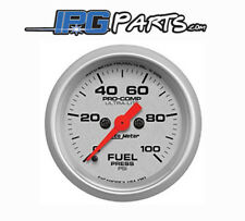 Autometer Ultra Lite 0-100 PSI Electric Fuel Pressure Gauge 52mm Part #4363