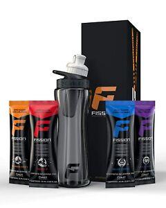 Cirkul Fission Water Bottle 22 Oz / black  & 4 Flavor Cartridges