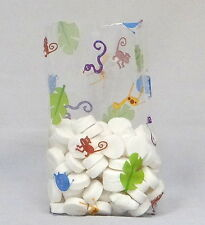 Jungle Junior Cello Bag Cellophane Bags, Pack of 25 Treat Bags, FREE SHIP