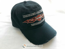 Harley Davidson Embroidered Flames washed Baseball Cap Kappe Mütze 99439-16VM