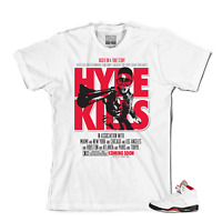 Tee to match Air Jordan Retro 5 Fire Red OG. Hype Kills Tee.