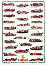Rare Ferrari F1 WORLD CHAMPIONS 1952-2002 HUGE Wall Chart Auto Racing Poster
