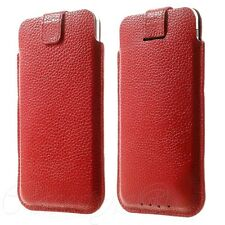 iPhone 5S 5 5C iPod Touch 7 6 Genuine Real Leather Pouch Slip Case Sleeve Cover