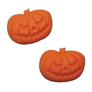 Halloween - Orange Sugar Pumpkins - Edible Cake Decorations x 12