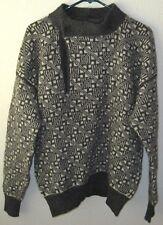 Women's Sz L Camilla Eames Pure Wool Pullover Sweater Gray/White Scotland C4