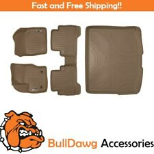 All Weather Custom Fit Floor Mats Set and Cargo Liner Bundle for Escape (Tan)