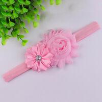 1PCS Baby Girls Chiffon Pear Headband Hairbow Head Wear Flower Hairband LI