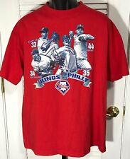 594cf715a Phillies MLB Red T-Shirt Adult XL Cliff Lee Roy Oswalt Cole Hamels Roy  Halladay