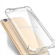 Shockproof Silicone Rubber Bumper TPU Clear Cover Case for iPhone 6 7 8 Plus X