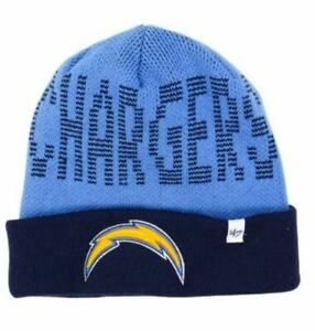 '47 Brand Los Angeles Chargers Cuff Knit Beanie Hat Cap - Blue