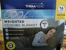 Therapedic 16 lb. Medium Weighted Cooling Blanket in Grey