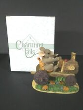 Fitz And Floyd Charming Tails Mackenzies Putt-Putt Tractor Mouse
