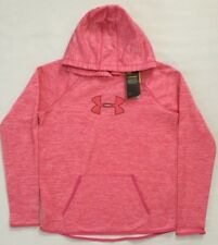 NWT Women's Under Armour Fleece Storm1 Logo Twist Hoodie XL 1288357 MSRP $60