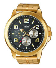 Casio Mens Watch Sports Large Case Multidial Gold plated MTP-X300G-1AV UK Seller