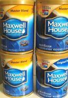 6 Empty Coffee Cans  10.5 oz Storage Craft Garage Kitchen Maxwell House NIP