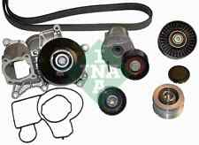 INA Water Pump + V-Ribbed Belt Kit 529001430 Fit with BMW 3 Series