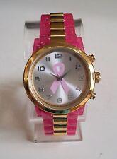 Women's Breast Cancer Awareness Pink Ribbon Fashion Wrist Watch