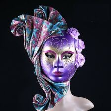 Masquerade Mask Plastic Handmade Leather Women Venetian Party Costumes Prom Prop