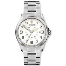 Victorinox Swiss Army Men's Infantry White Watch Calendar 241293 Sapphire Crysta