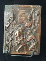 Plaque en Cuivre représentant le Christ XVIII 18 ème