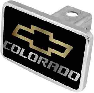 New Chevrolet Colorado Gold /Mirrored Logo Hitch Cover