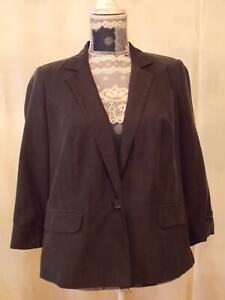 Dorothy Perkins Jacket,Blazer size 16     Long Sleeve  Black