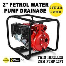 "2"" Petrol Water Pump Petrol Drainage Irrigation Suit Honda Fire Hose Starter"