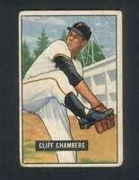 1951 Bowman #131 Cliff Chambers VG/VGEX Pirates 105403
