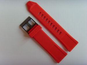 Diesel Original Spare Band Silicone DZT2006 Watch Band Red Watch Strap 24mm