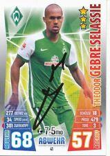 Theodor Gebre Selassie  Werder Bremen Match Attax Card 2015/16 signiert 400533