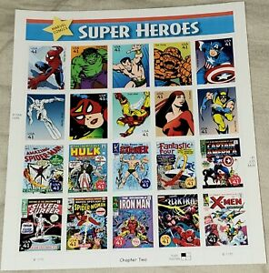 Marvel Comics Super Heroes 41 Cent Stamps Sheet Pane of 20 USPS Spider-Man 2006