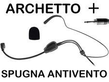 RADIOMICROFONO MICROFONO ARCHETTO SENZA FILI FITNESS SPINNING SPORT WIRELESS