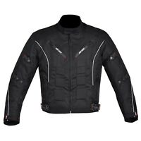 Men's Motorcycle Motorbike Jacket Waterproof Cordura CE Armoured Black