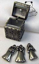Prayer Box & Charms Angel Ganz Metal Religious Heart Cross Bird Peace Small New