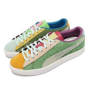 Puma Suede VTG Michael Lau Q2 Green Multi Men Unisex Casual Shoes 382164-01