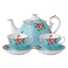 Royal Albert Teaware Polka Blue Tea Set for Two 3 piece set #POLBLU25823