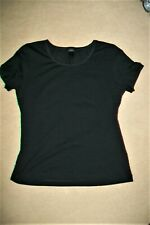 Escada-black stretch cotton/elastane t-shirt/top.M/L.New without tags.