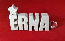 Beton, Steinguss Buchstaben 3D Deko Namen ERNA als Geschenk verpackt!