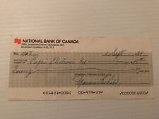 Maurice Richard signed General Fishing Lines cheque #467 (autographed)