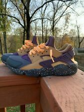 Nike Air Huarache Run Pro PRM Purple Elemental Gold Mens Shoes Size 9