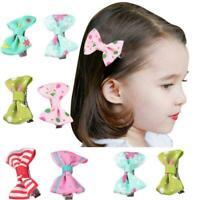 1PCS Kids Baby Girl's Bow Ribbon Hair Bow Mini Latch Clip Hair Hairpins Cl Z4M0
