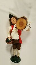 Byers Choice Retired 2001 Williamsburg Colonial Man with Log