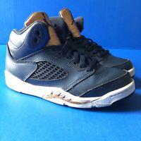 NIKE AIR JORDAN 5 RETRO V BG Obsidian blue/bronze youth size 2Y 440889-416 nike