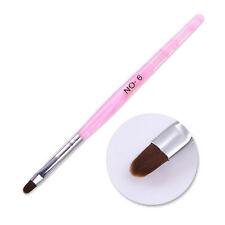 Nail Art UV Gel Painting Brush Pen With Cap Pink Salon Manicure Tools NO.6