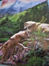 "New 300 Piece Lucie Bilodeau Art Puzzle ""Hidden Wolf Valley"" Large Format 18x24"