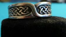 CELTIC KNOT RING BAND STYLE SIZE 12 CELTIC/PAGAN/WICCAN UNISEX HANDFASTING